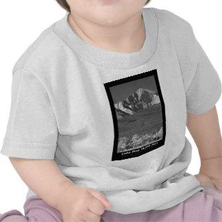 Longs Peak 14259 Ft Black and White Poster T Shirt