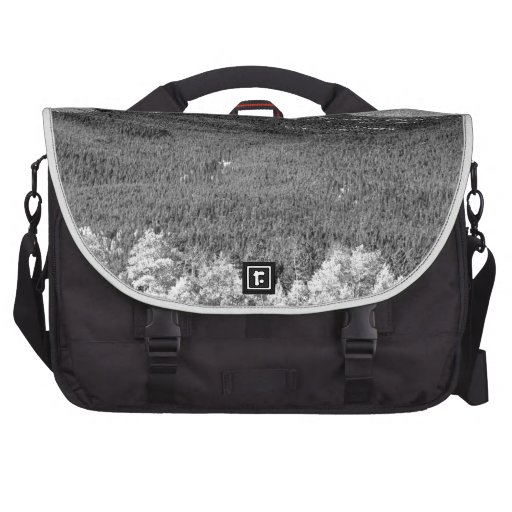 Longs Peak a Colorado Playground In Black and Whit Bag For Laptop