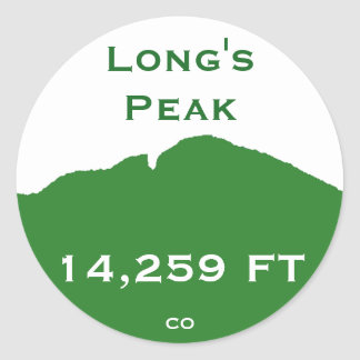 Long's Peak Classic Round Sticker
