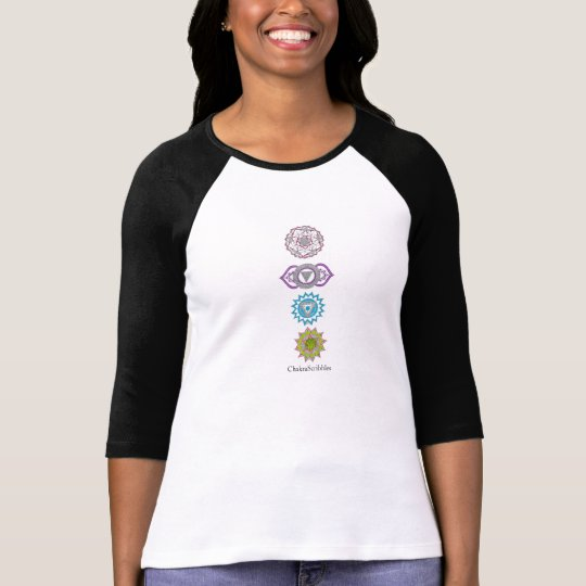 Longsleeved top featuring the upper chakras