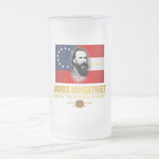 Longstreet (Southern Patriot) Frosted Glass Beer Mug