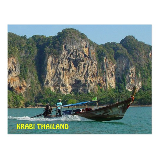 Longtail Boatman Krabi, Thailand Postcard