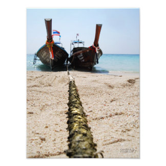 Longtail Boats // Bamboo Island, Thailand Art Photo