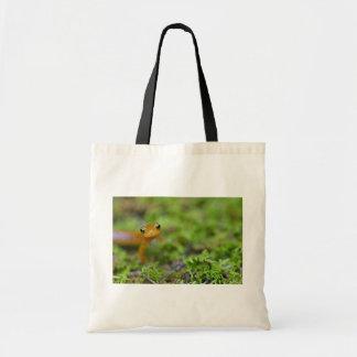 Longtail salamander face tote bags