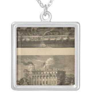 Longview Asylum, Ohio Silver Plated Necklace