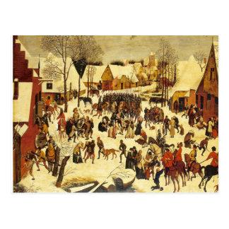 Lons le Saunier Museum Breughal winter scene Postcard
