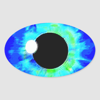 LOOCKY EYE OVAL STICKER