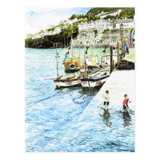 'Looe Harbour' Postcard