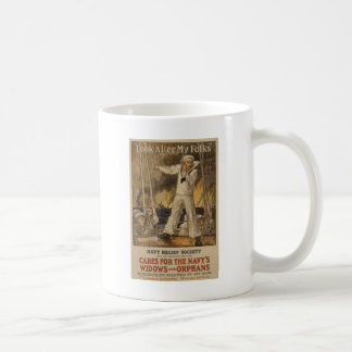 Look After My Folks Basic White Mug