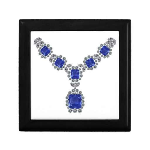 Look at Me Sapphire Necklace Gift Box