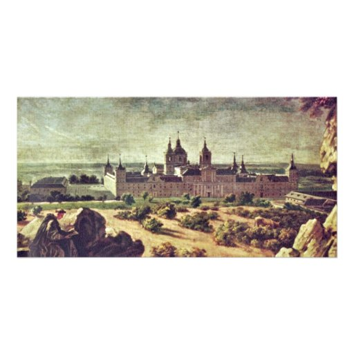 Look At The Escorial Monastery By Houasse Michel-A Photo Card
