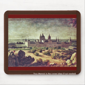 Look At The Escorial Monastery By Houasse Michel- Mouse Pad