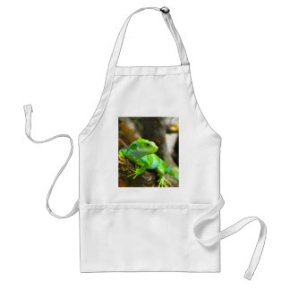 Look  for love and joy iguana lizard reptile aprons