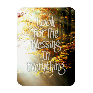 Look For The Blessing Sunlight Motivational Quote Rectangular Magnets