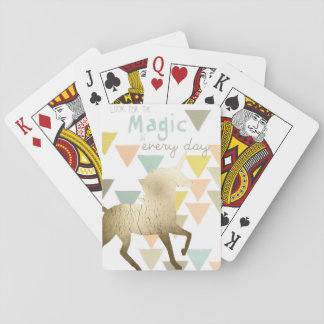 Look for the Magic Everyday Gold Unicorn Playing Cards