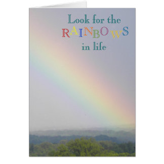 Look for the Rainbows - Blank Notecard Note Card