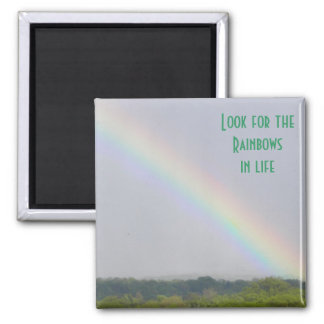 Look for the Rainbows...- Customizable Magnet