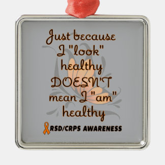 """""""Look"""" healthy/Butterfly...RSD/CRPS Silver-Colored Square Decoration"""