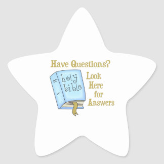LOOK HERE FOR ANSWERS STAR STICKER
