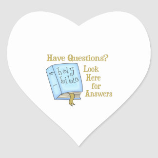 LOOK HERE FOR ANSWERS HEART STICKER