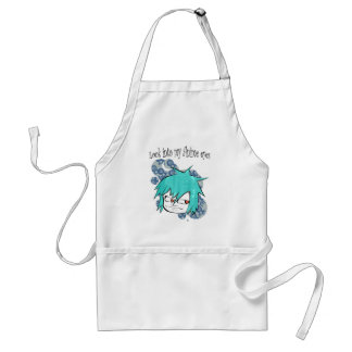 Look into my anime eyes aprons
