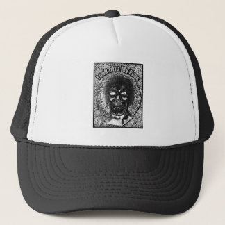Look Into My Eyes Black & White Trucker Hat