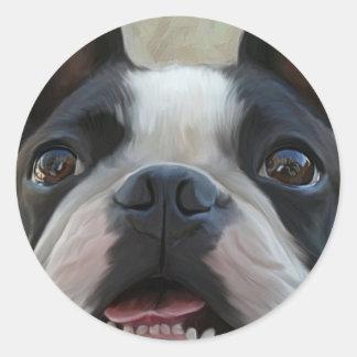 Look into my eyes round sticker