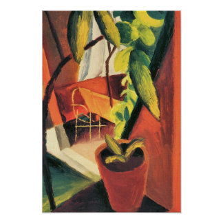 Look Into the Summer House Expressionist Poster