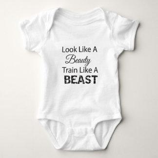 Look LIke A Beauty Train Like A Beast Tshirts