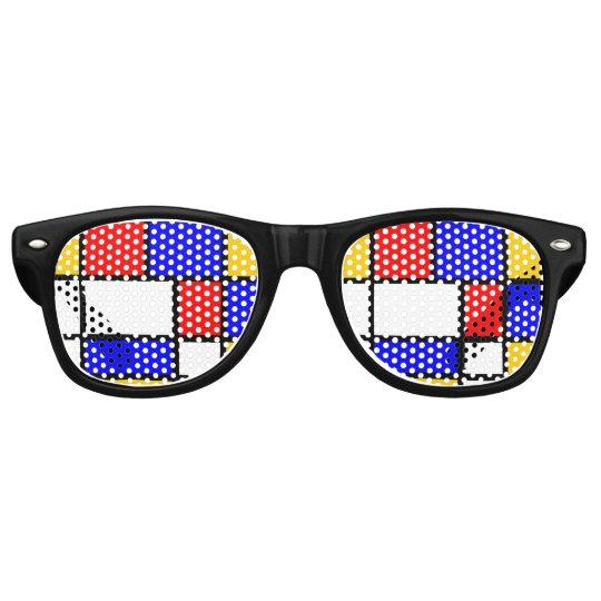 Look Modern art Mondrian Retro Sunglasses