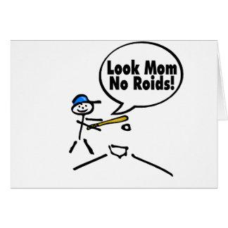 Look Mom No Roids Card