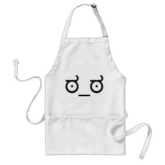 Look of Disapproval Standard Apron