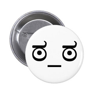 Look of Disapproval 6 Cm Round Badge