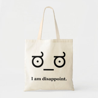 Look of Disapproval Disappoint Budget Tote Bag