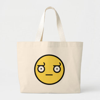 Look of Disapproval Smiley Face Jumbo Tote Bag