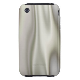 Look of Smooth Gray Satin Fabric in Folds iPhone 3 Tough Cover