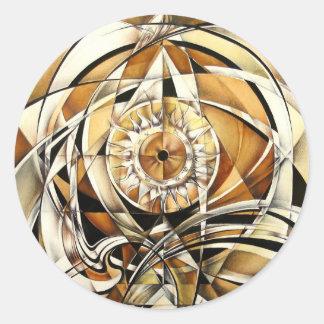 Look of zodiac round sticker