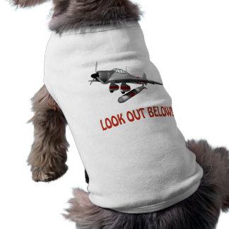 Look Out Below Sleeveless Dog Shirt