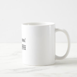 Look out now!HOT COFFEE Basic White Mug