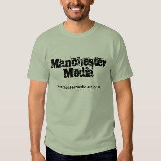 Look sharp in a Manchester Media Staff shir T-shirt
