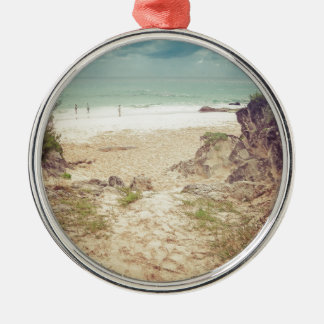 Look to the sea Silver-Colored round decoration