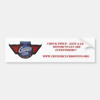 Look Twice!!  CCB Bumper Sticker - Customized