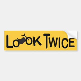 Look Twice for Motorcycles Bumper Sticker