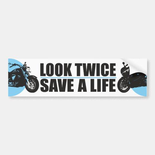Look Twice, Save A Life Bumper Sticker
