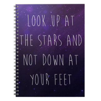 Look Up At The Stars Motivational Quote Notebook