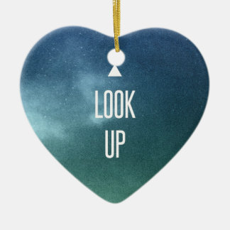 look up ! christmas ornament