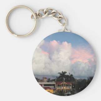 Look Up Basic Round Button Key Ring