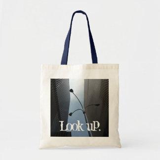 """""""Look up."""" skyscraper motif bag"""