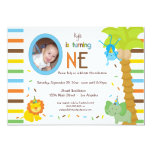 Look Who Is Turning One - Whimsical Animal Theme Invitations