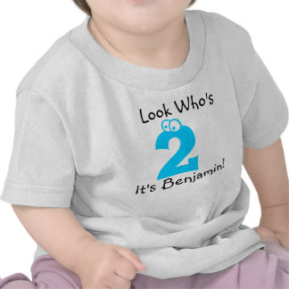 Look Who s 2 Customizable Birthday Tshirt